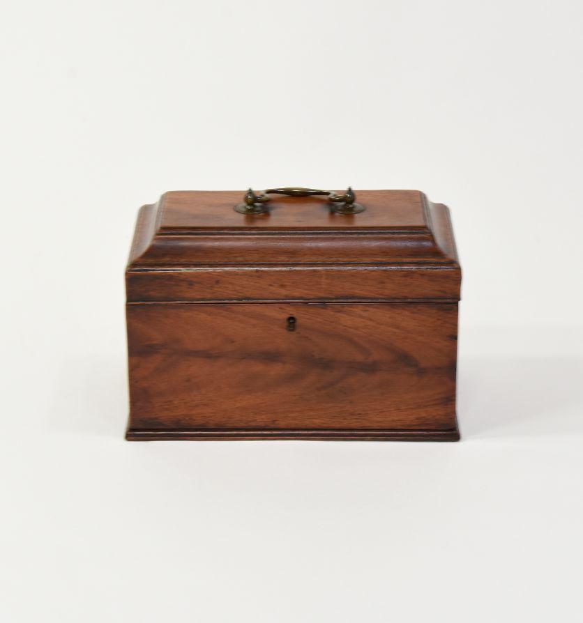 A George III mahogany tea caddy, Circa 1760