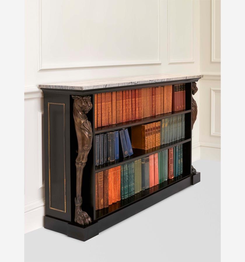 Fosbury Lion's head Ebonised Bookcase