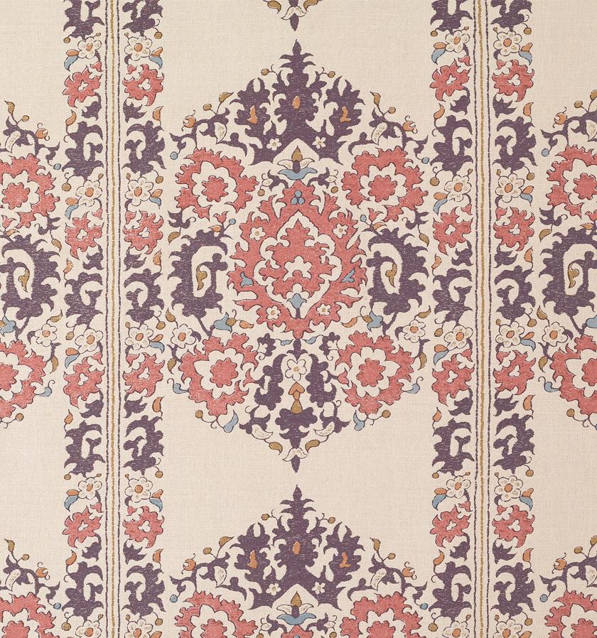 Algiers Pink & Purple on Silk