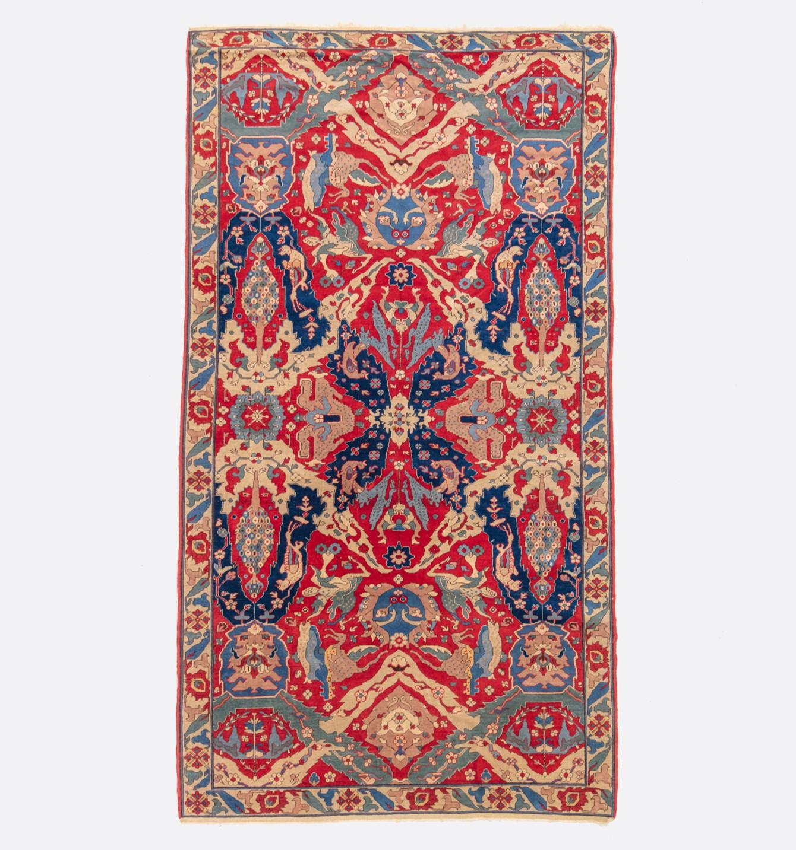 An Antique Caucasian Dragon design rug, circa 1890