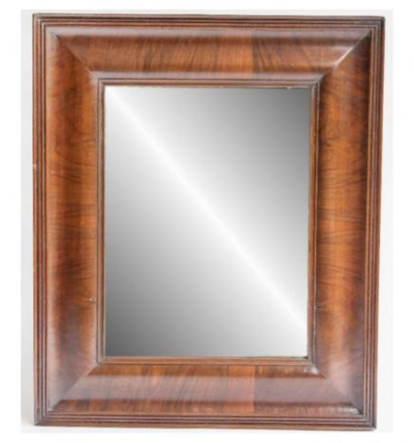 A walnut mirror