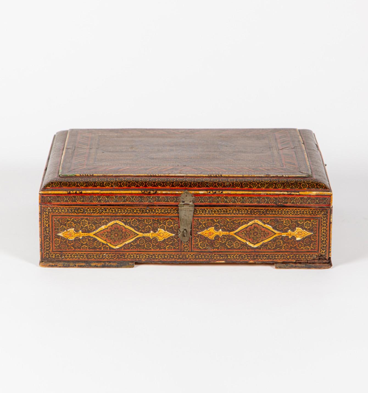 A painted Kashmiri work box, Circa 1860