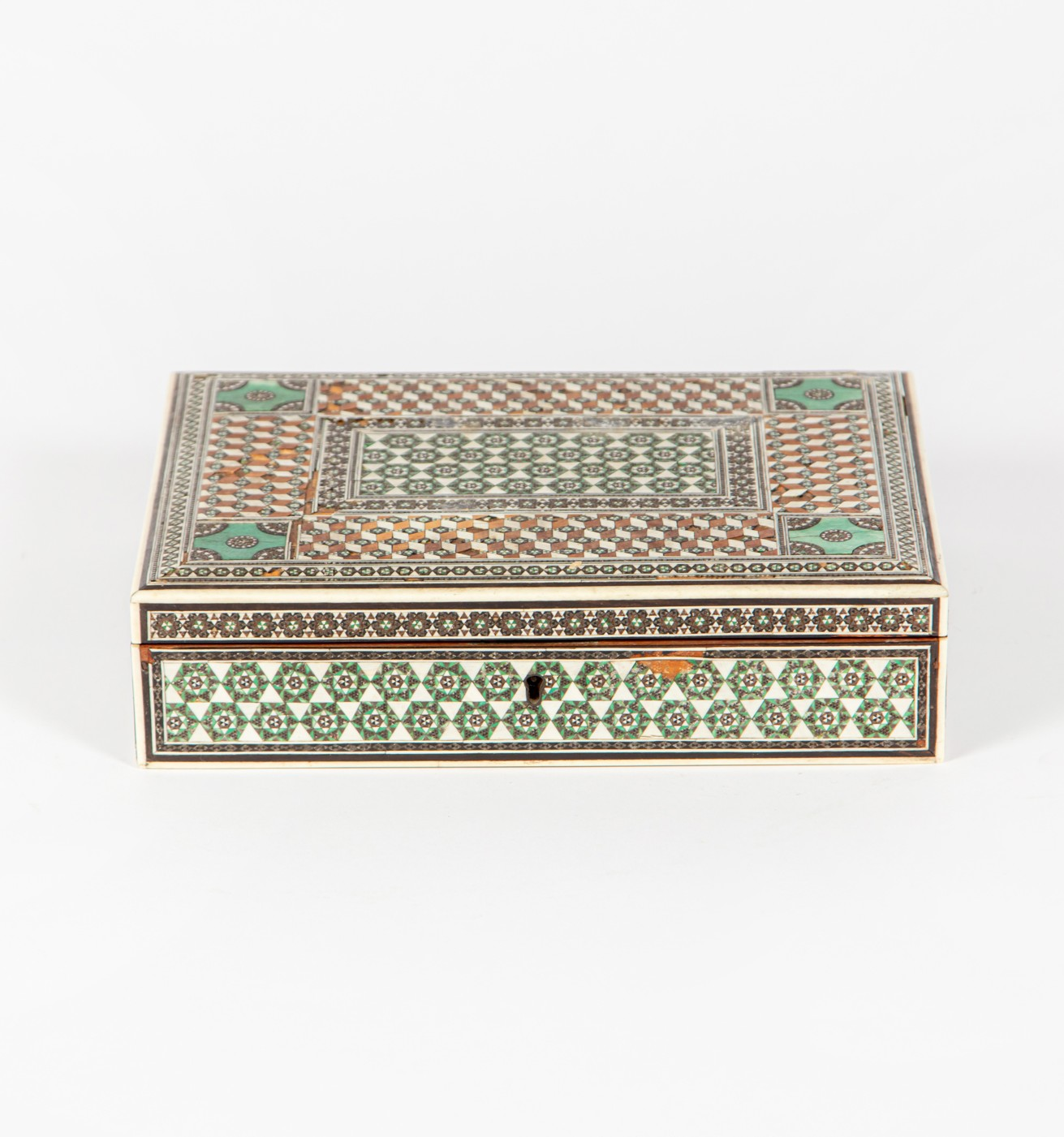 A finely inlaid Anglo Indian box, circa 1860