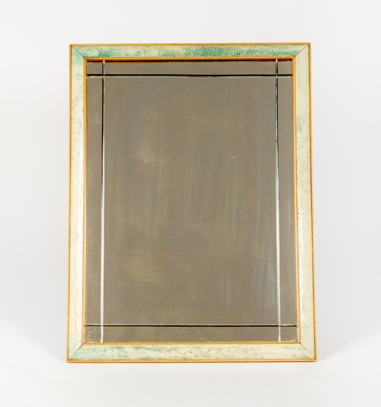 A Shagreen and box wood easel mirror, circa 1920