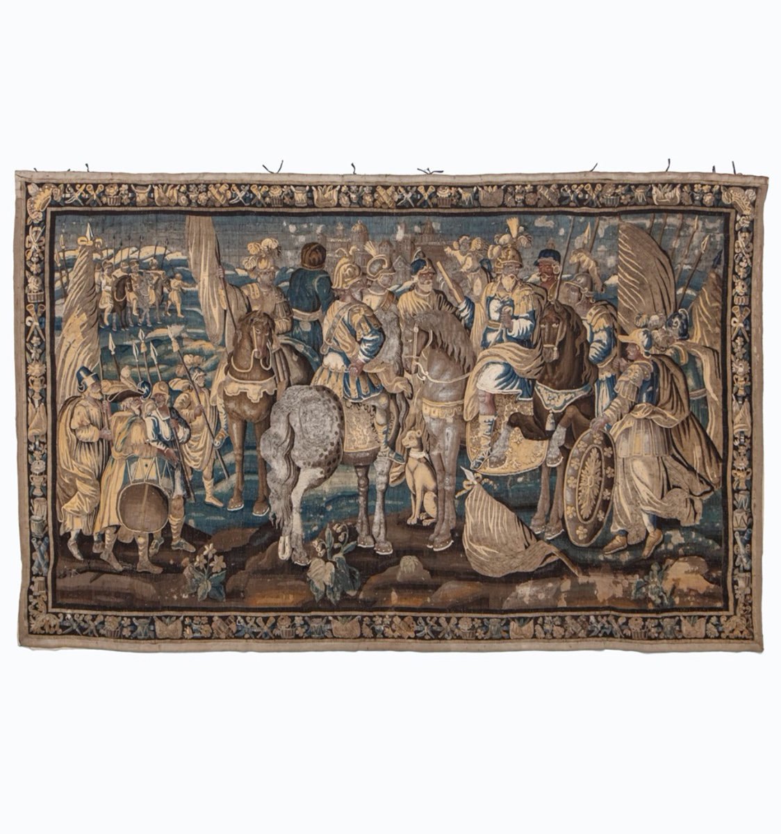 A Louis XIV historical tapestry. Aubusson, late 17th century