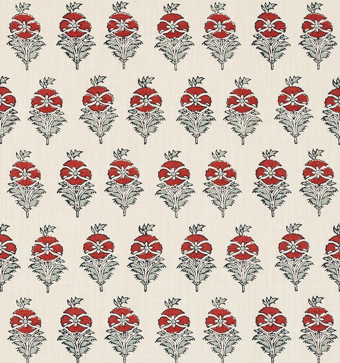 Field Poppy Heavy Linen