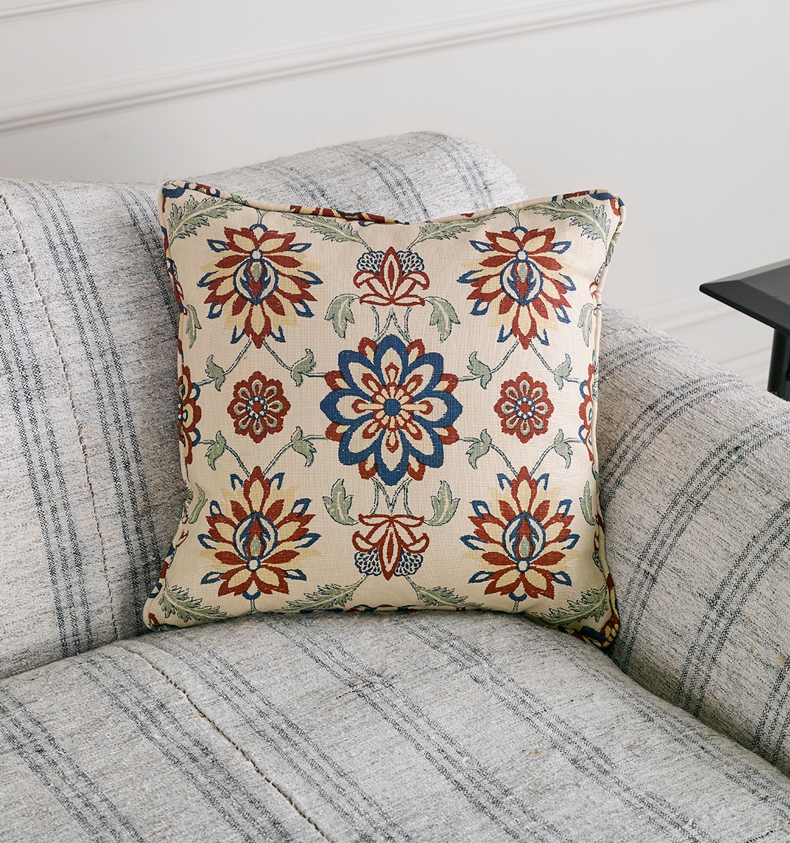 Mughal Flower Fabric Cushion