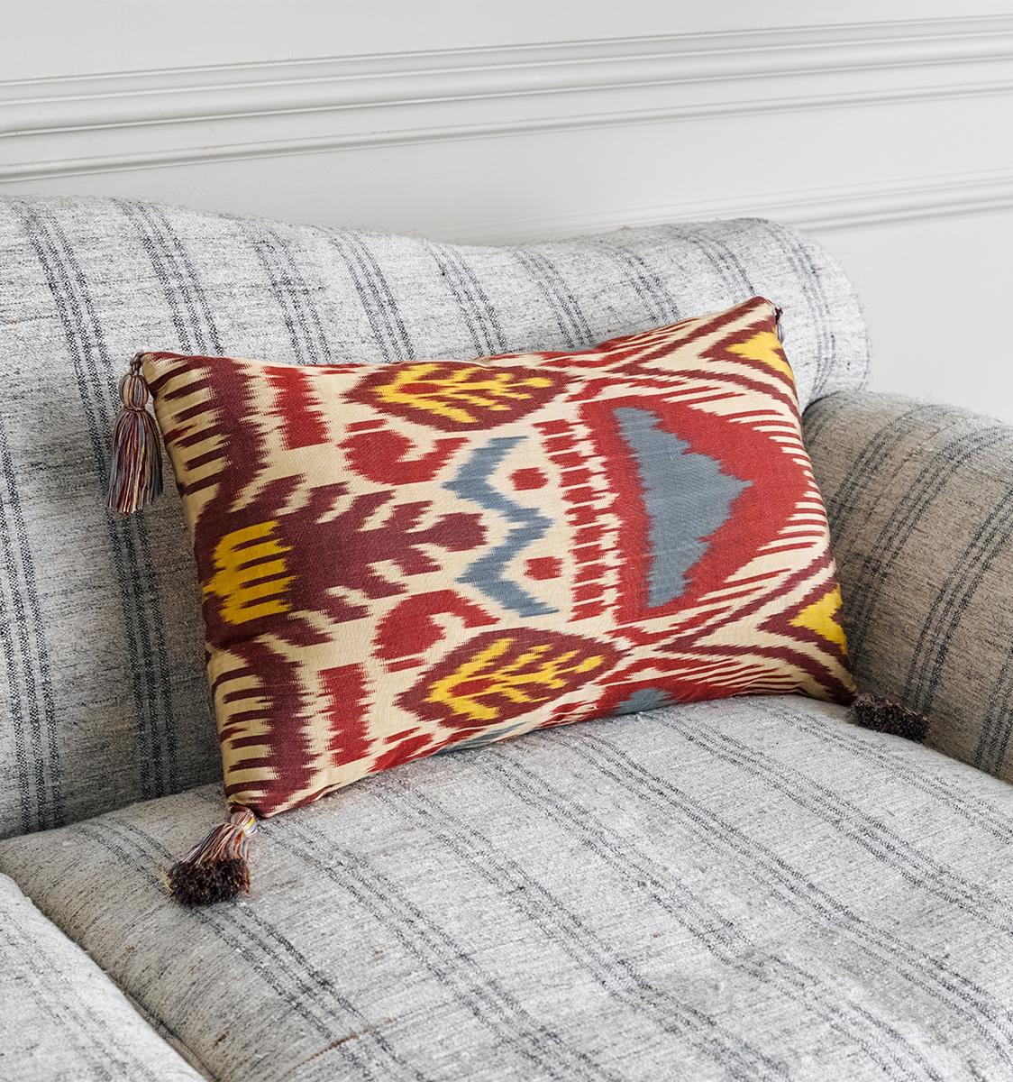 Ikat Termez Blue Cushion