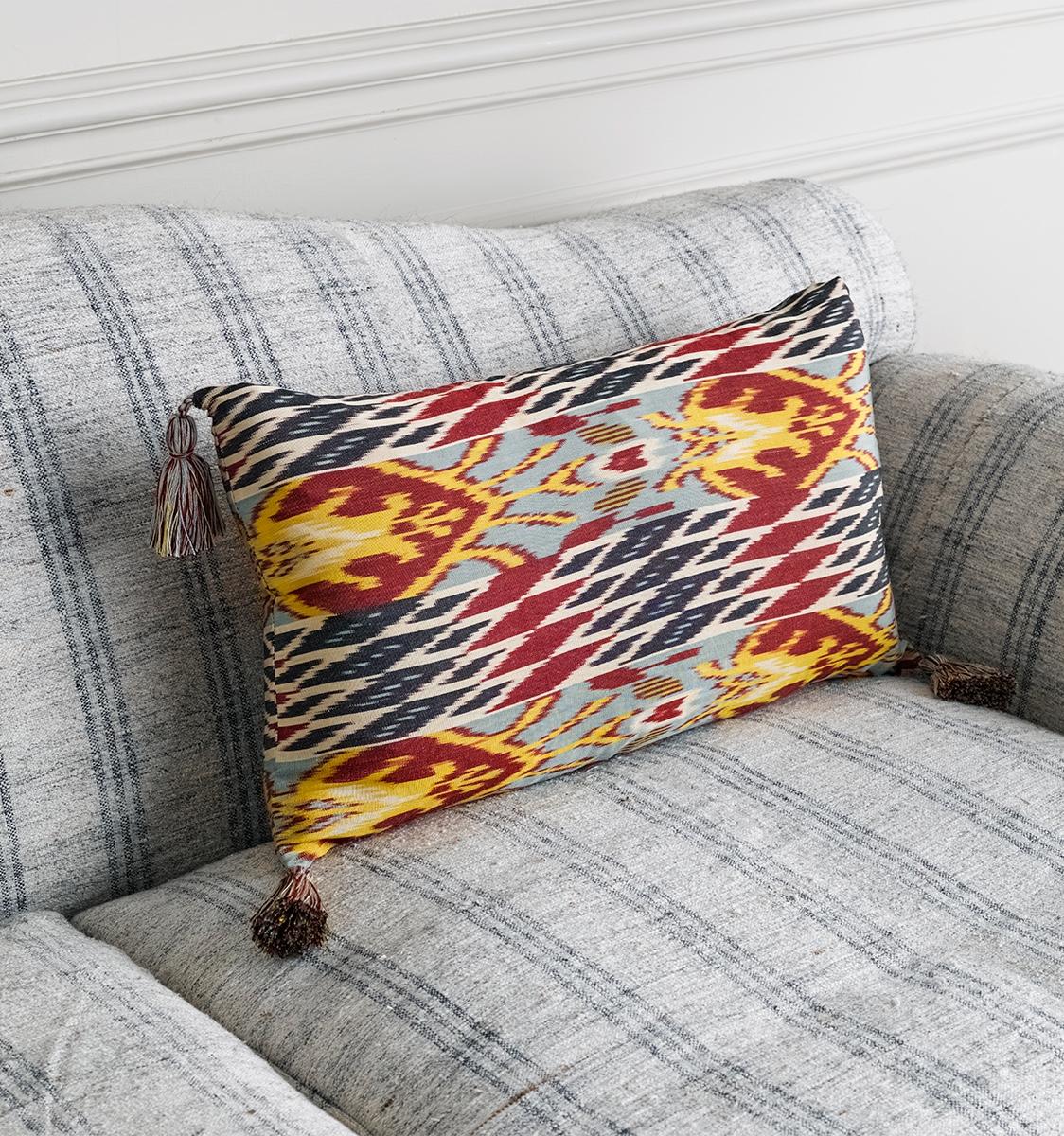 Ikat Navoi Cushion