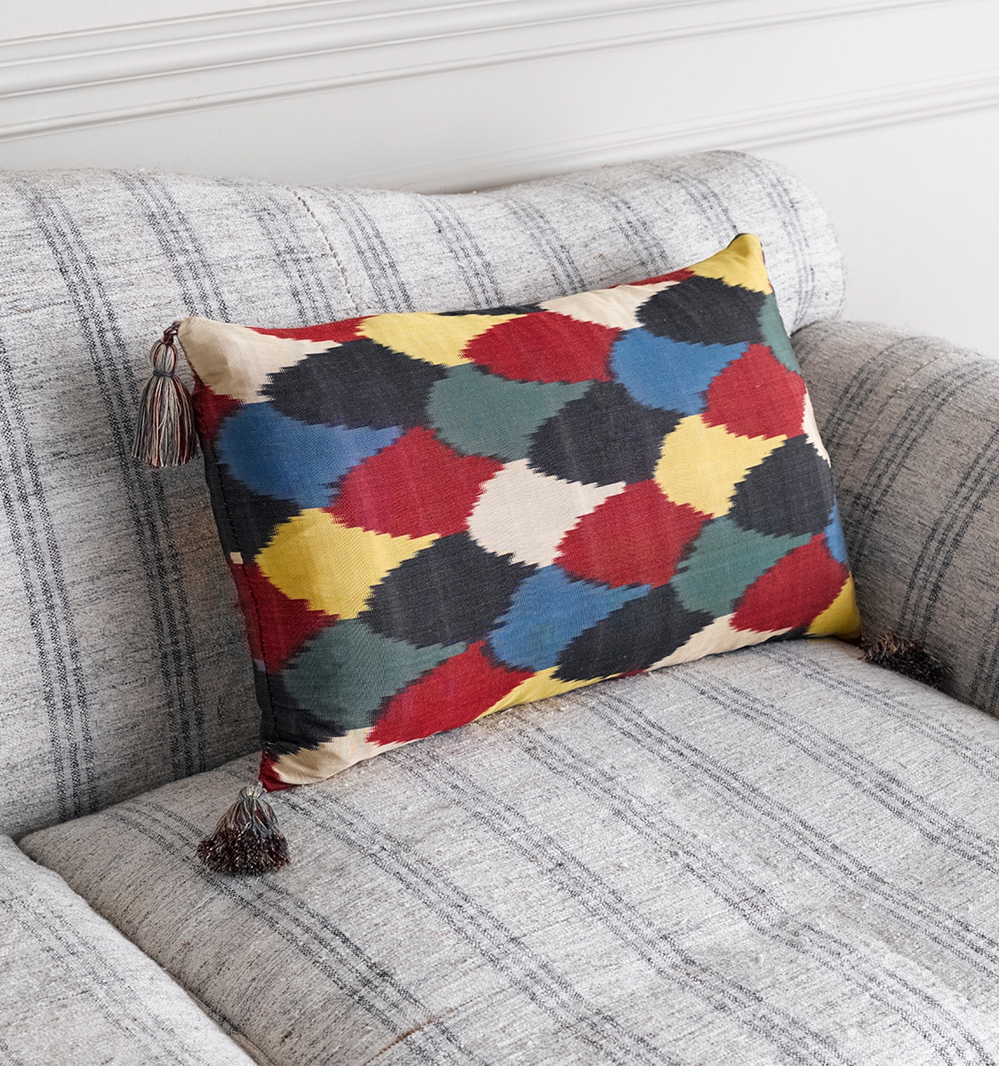 Ikat Harlequin Cushion