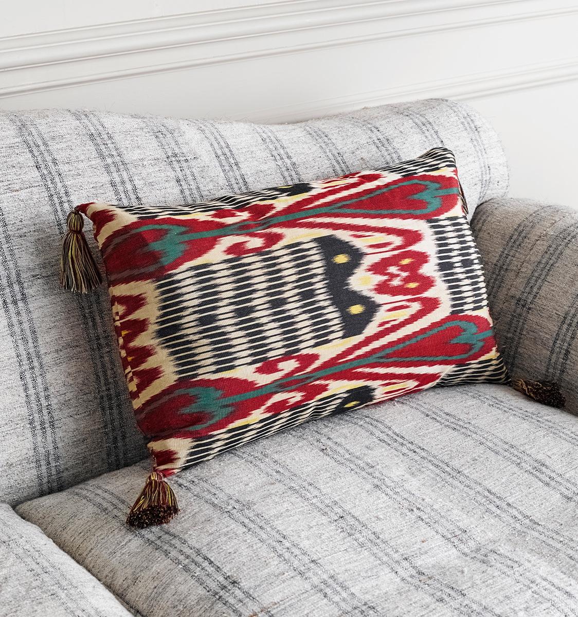 Ikat Andijan Cushion