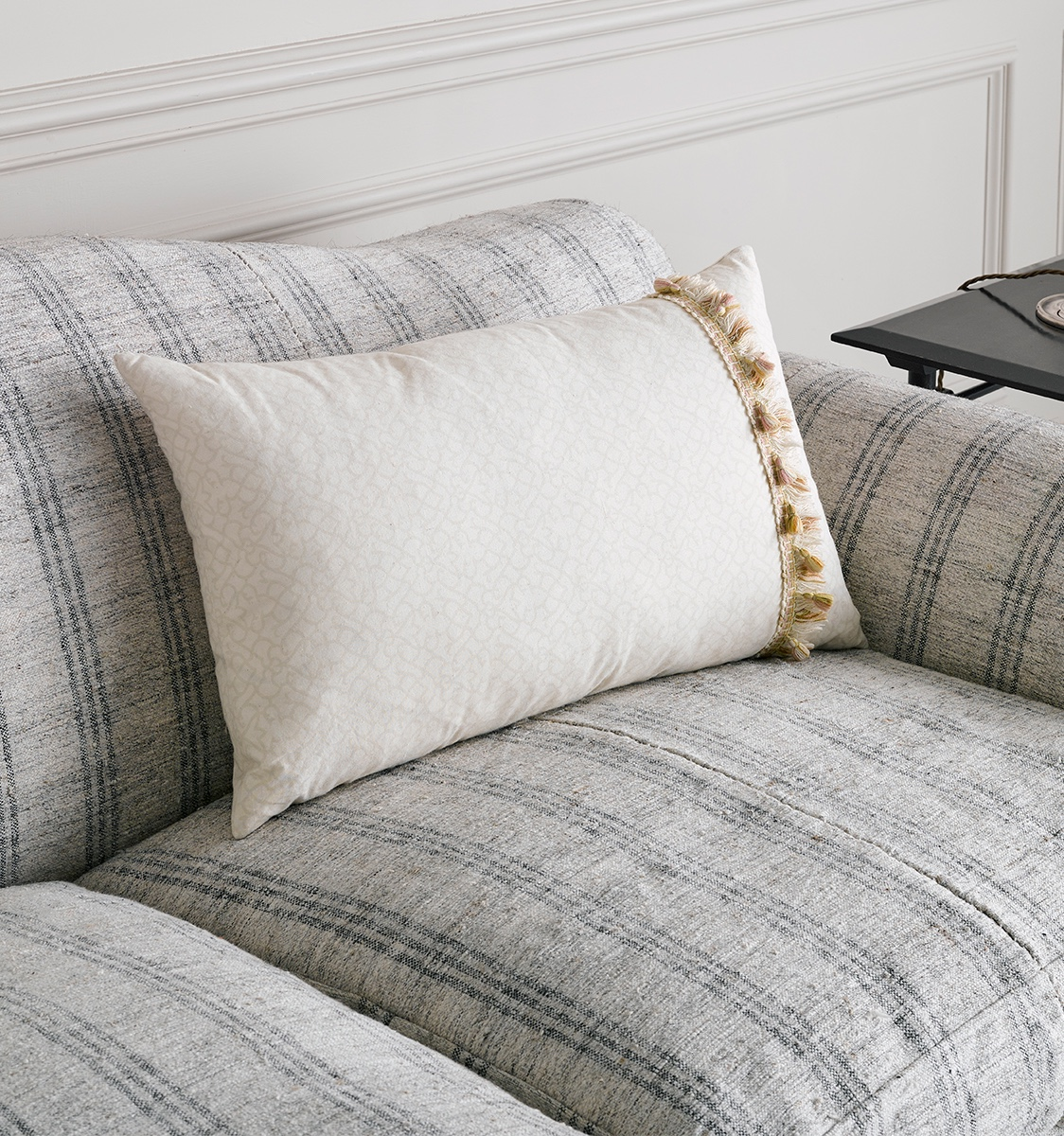 Antique Fabric Cushion with Trim
