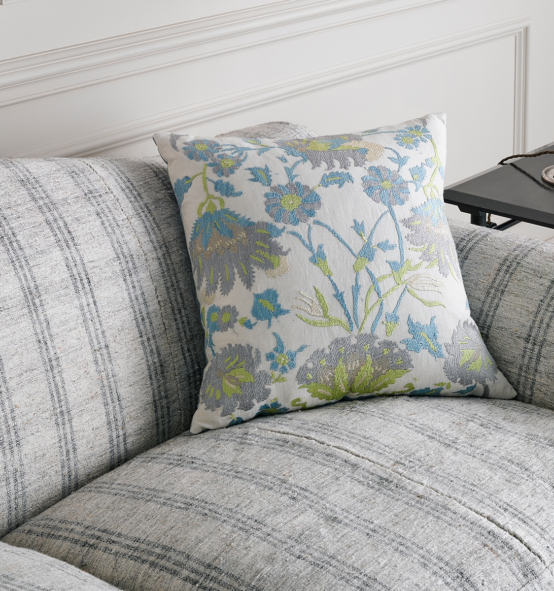 Susani Cushion in Green and Blue