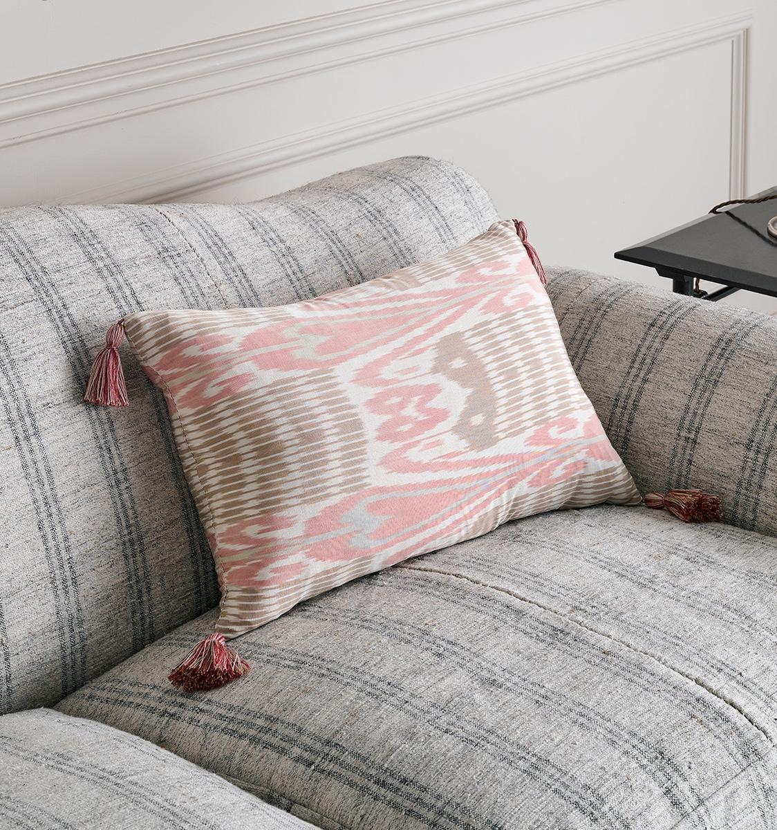 Ikat Andijan Pink Cushion
