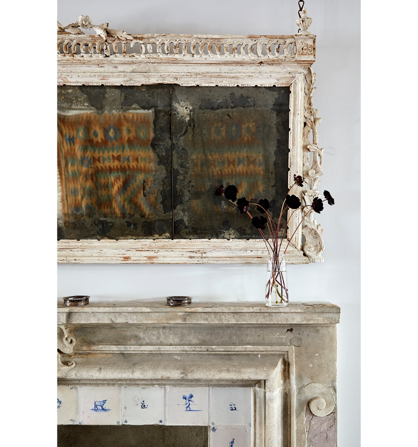 An Italian white painted overmantle mirror, Circa 1785