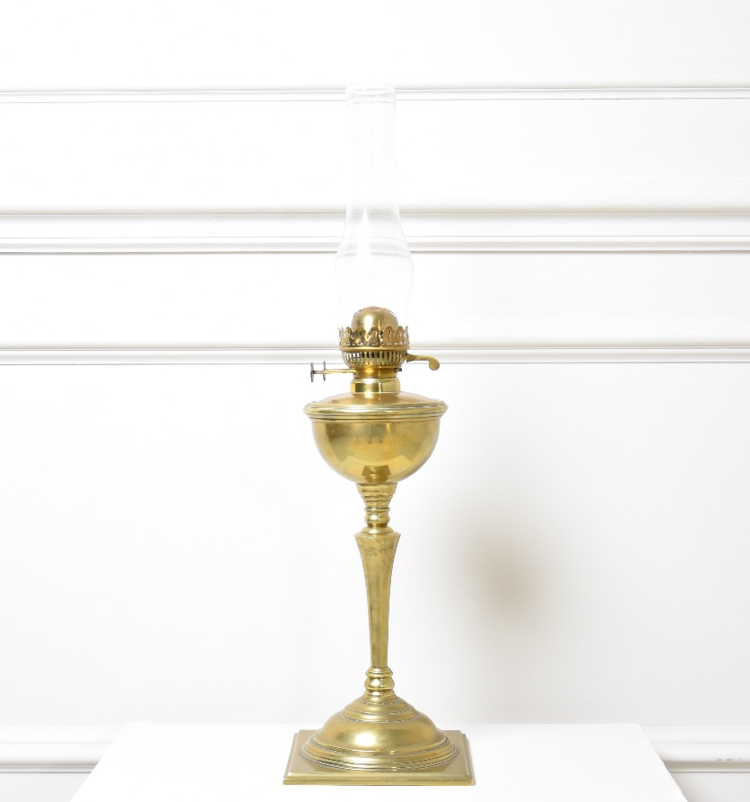 A Benson oil lamp