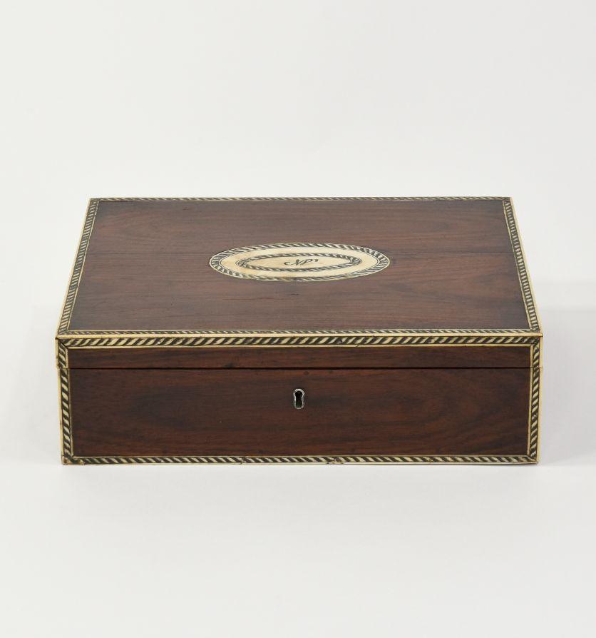 A Vizagapatam rosewood work box, Circa 1840