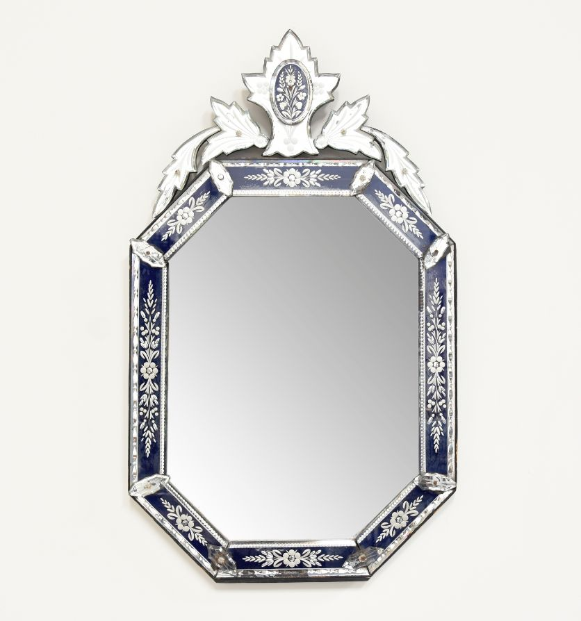 A French made Venetian stye mirror, circa 1900