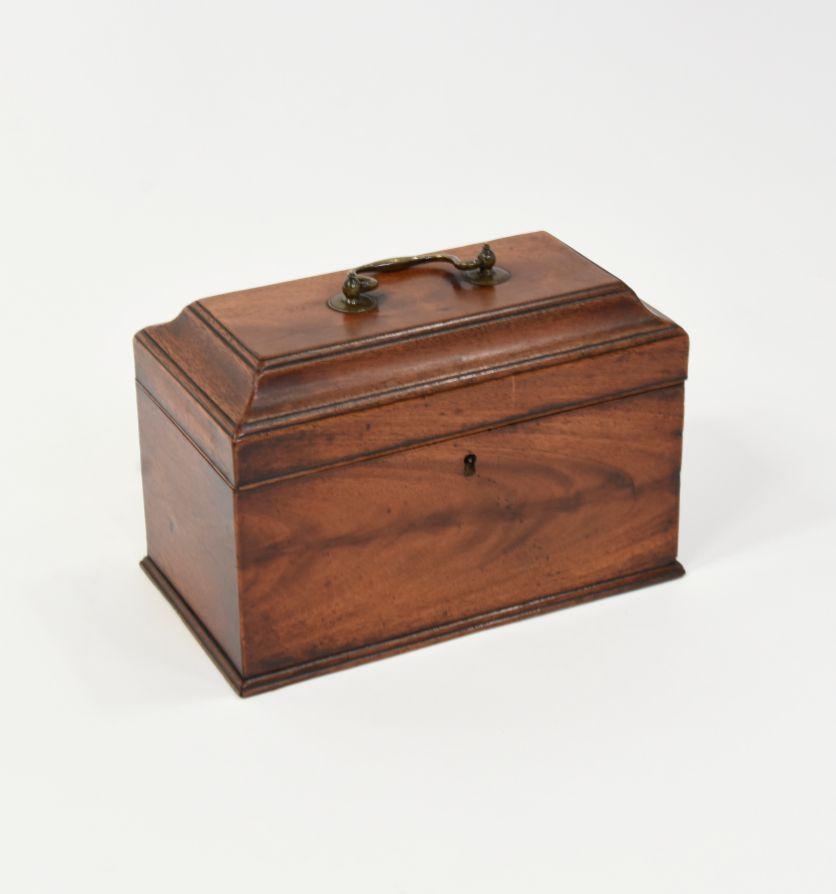 A Georgian mahogany tea caddy, Circa 1780