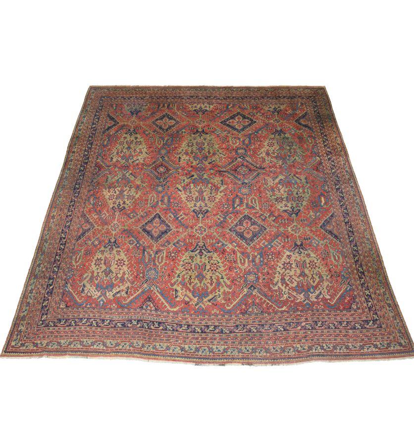 An 18th century Oushak carpet