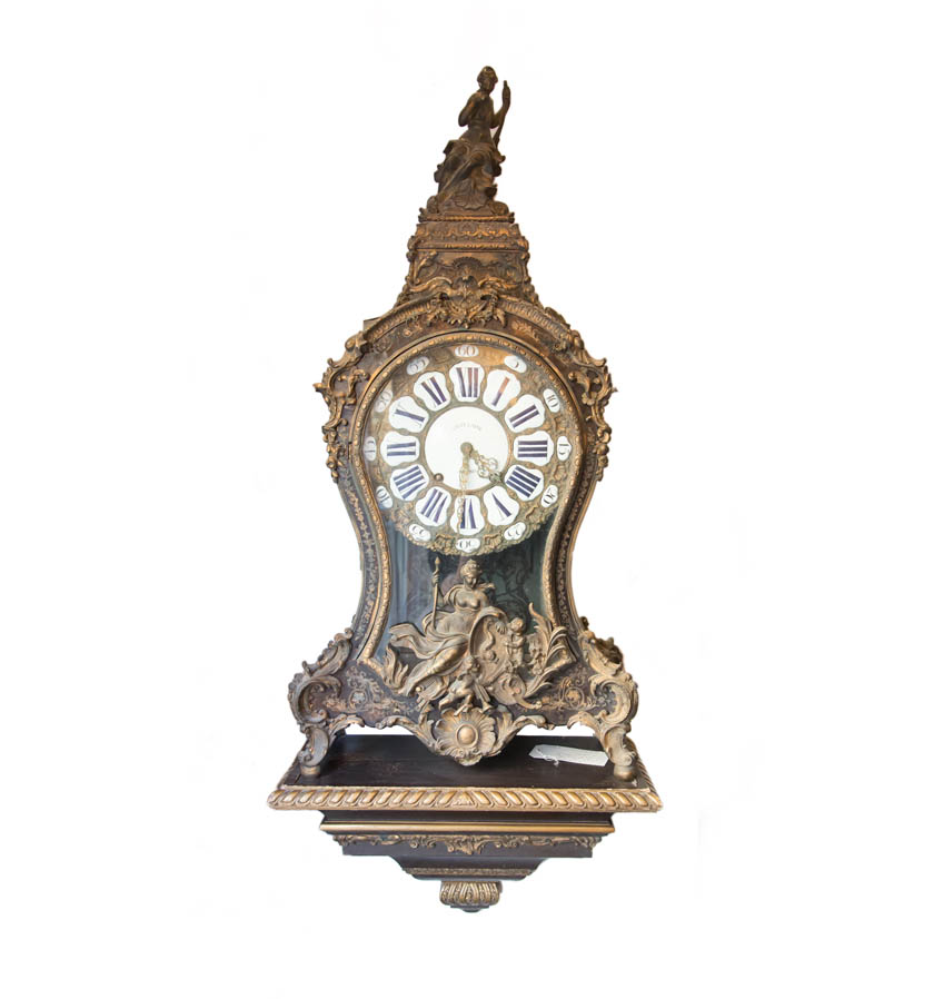 A French ormolu-mounted tortoiseshell 'boulle' bracket clock, circa 1860