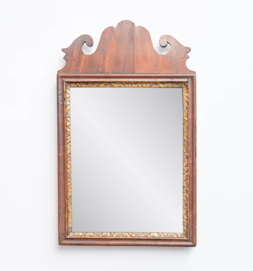 A Small 18th Century Mahogany Mirror. Circa 1760